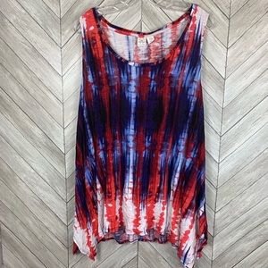 Artisan ny red white and blue tank top